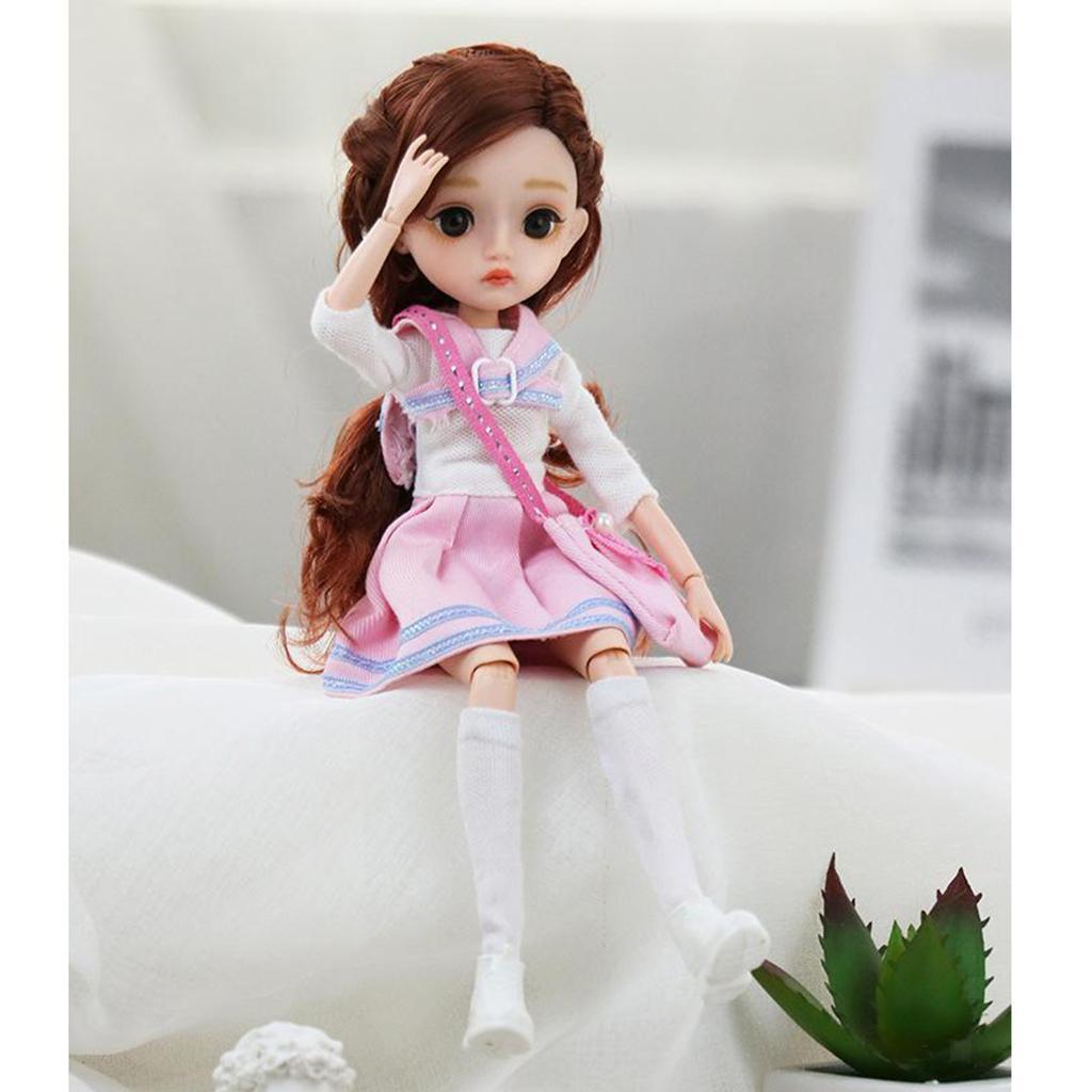 11-Joints-30cm-BJD-Doll-Cute-Dress-Up-3D-Big-Eyes-Girls-Princess-Doll-Toys thumbnail 30