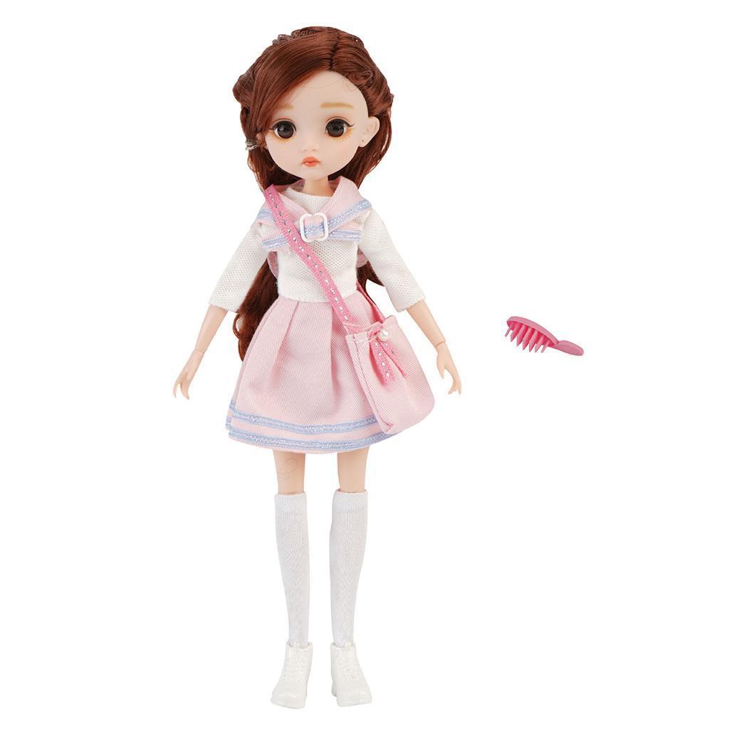 11-Joints-30cm-BJD-Doll-Cute-Dress-Up-3D-Big-Eyes-Girls-Princess-Doll-Toys thumbnail 22