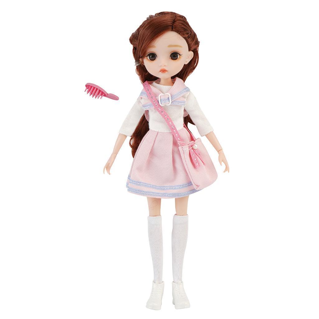 11-Joints-30cm-BJD-Doll-Cute-Dress-Up-3D-Big-Eyes-Girls-Princess-Doll-Toys thumbnail 24