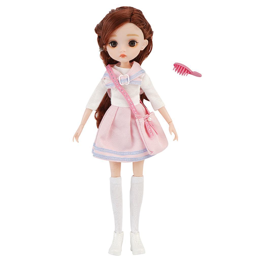 11-Joints-30cm-BJD-Doll-Cute-Dress-Up-3D-Big-Eyes-Girls-Princess-Doll-Toys thumbnail 25