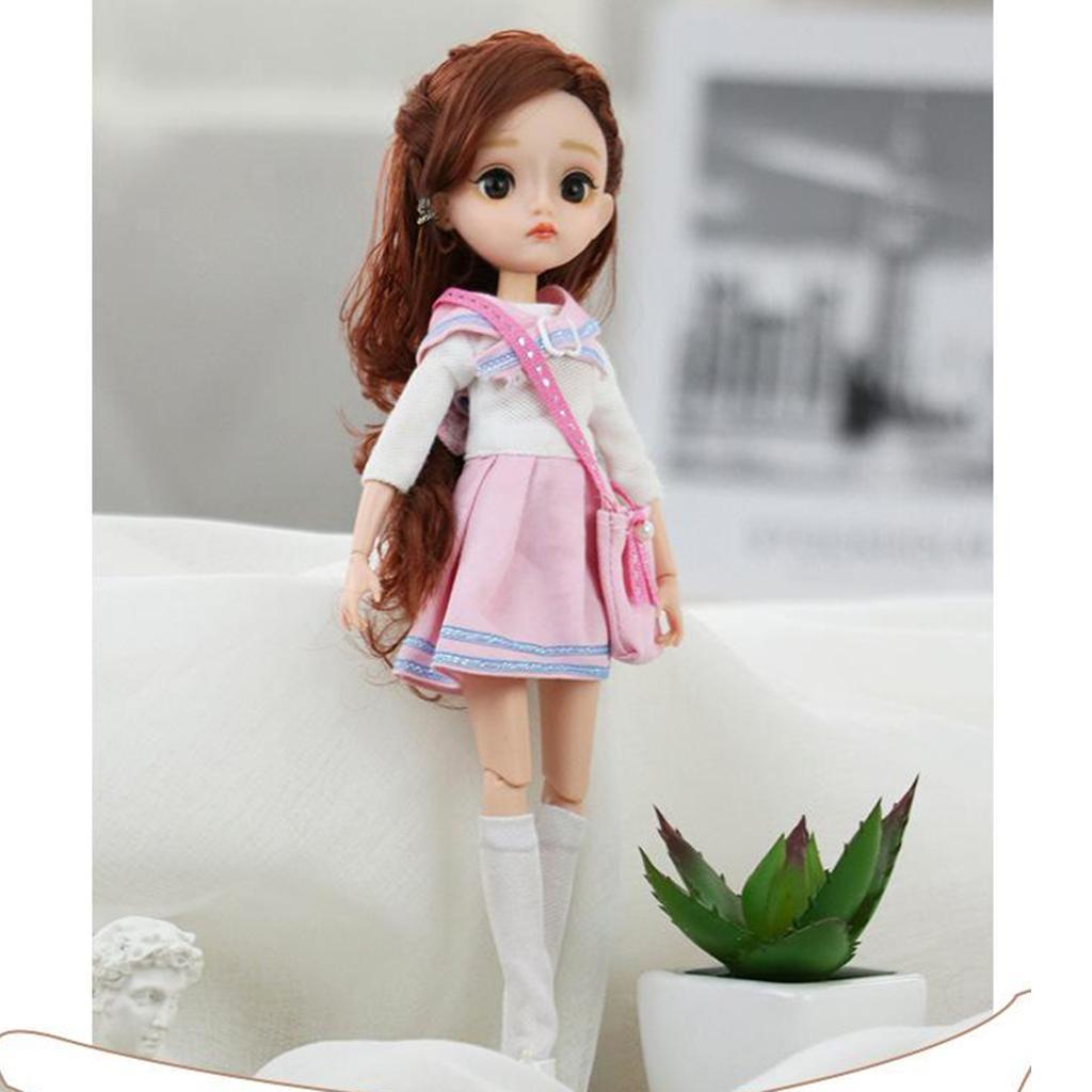 11-Joints-30cm-BJD-Doll-Cute-Dress-Up-3D-Big-Eyes-Girls-Princess-Doll-Toys thumbnail 27