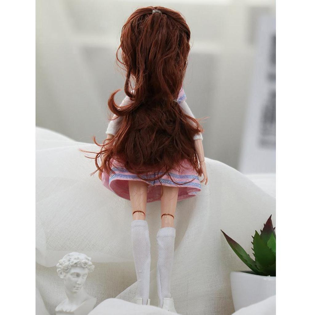 11-Joints-30cm-BJD-Doll-Cute-Dress-Up-3D-Big-Eyes-Girls-Princess-Doll-Toys thumbnail 28