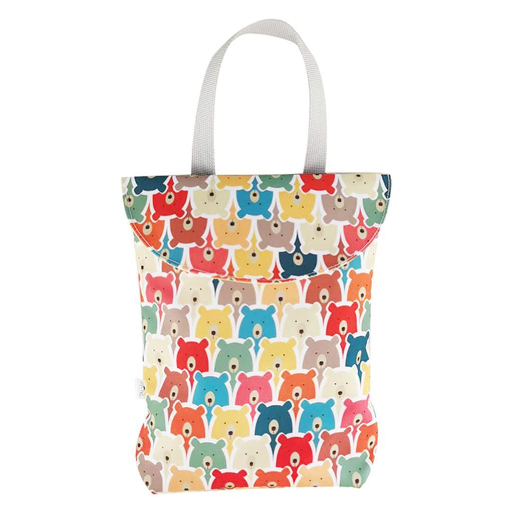 Baby-Diaper-Bag-Organizer-Fashion-Prints-Mummy-Storage-Bag-Outdoor-Reusable miniature 34