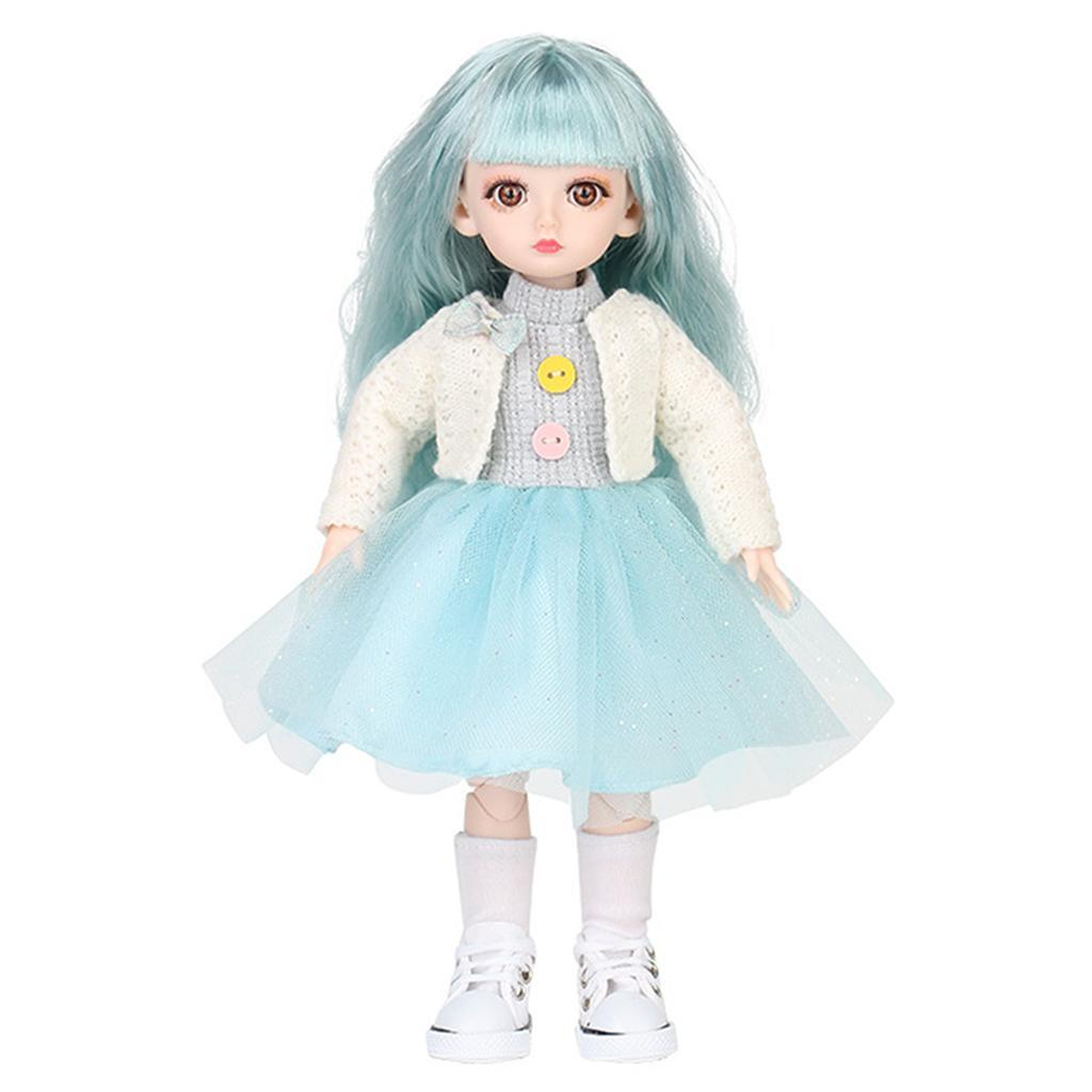 Adorable-Flexible-Joints-BJD-Doll-Body-Hair-Wig-Dress-Up-Girl-Dolls-DIY-Play thumbnail 12