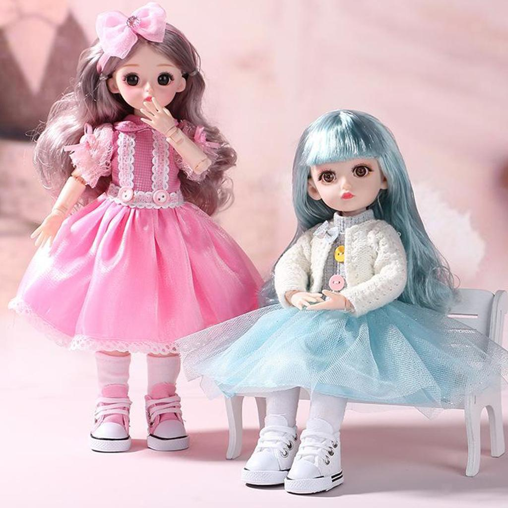 Adorable-Flexible-Joints-BJD-Doll-Body-Hair-Wig-Dress-Up-Girl-Dolls-DIY-Play thumbnail 13