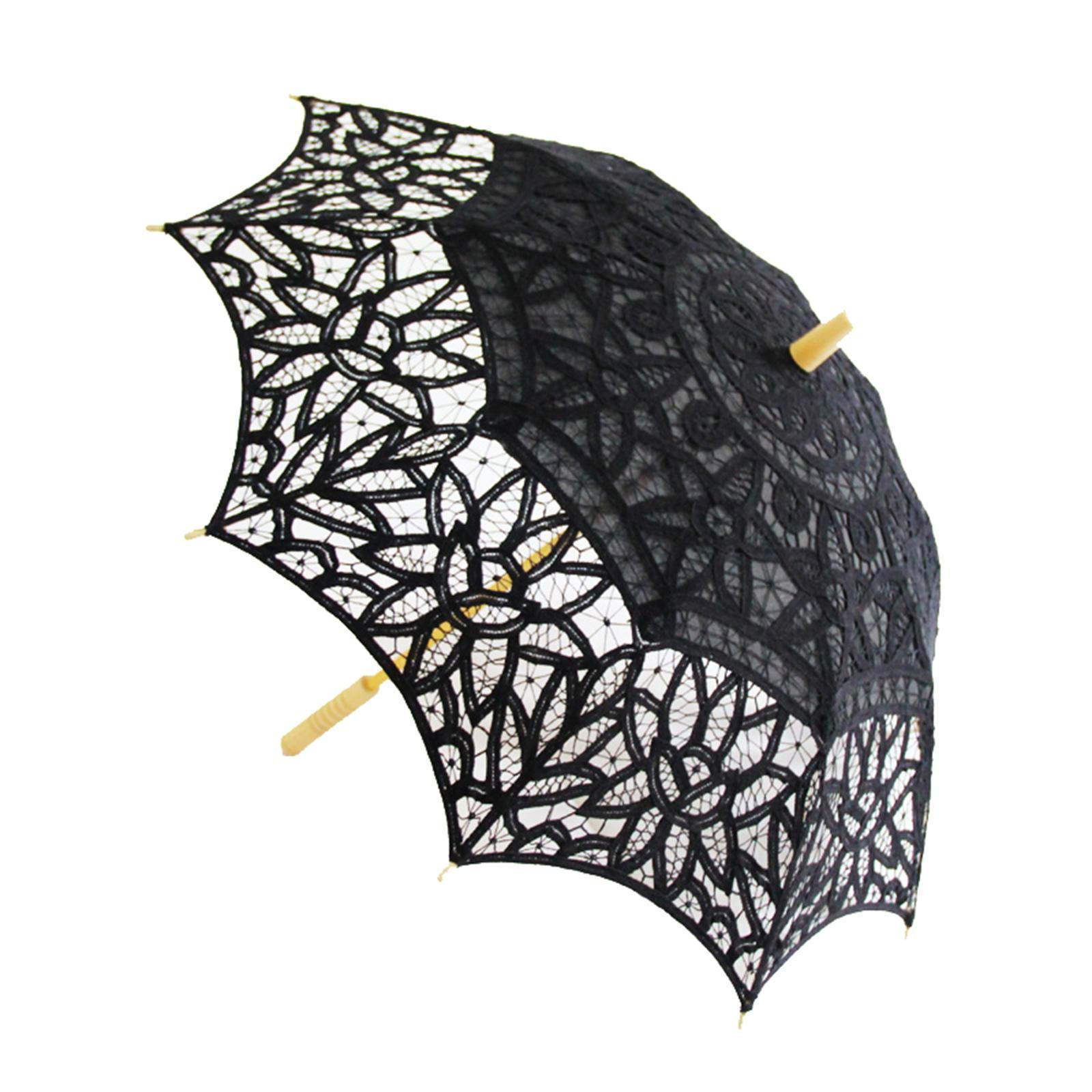 thumbnail 6 - Parapluie de mariage parapluie de mariage vintage en dentelle de coton fait main