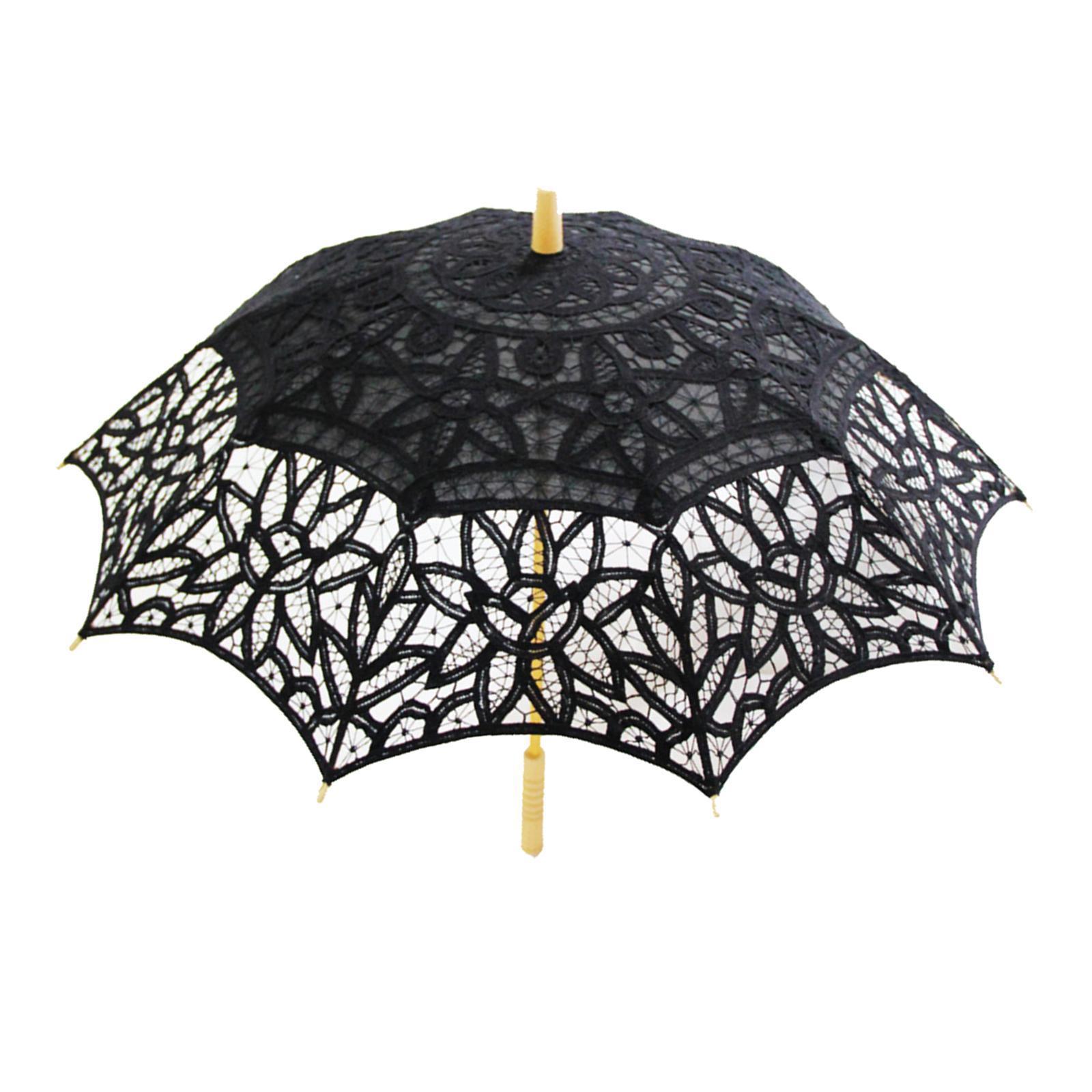 thumbnail 2 - Parapluie de mariage parapluie de mariage vintage en dentelle de coton fait main