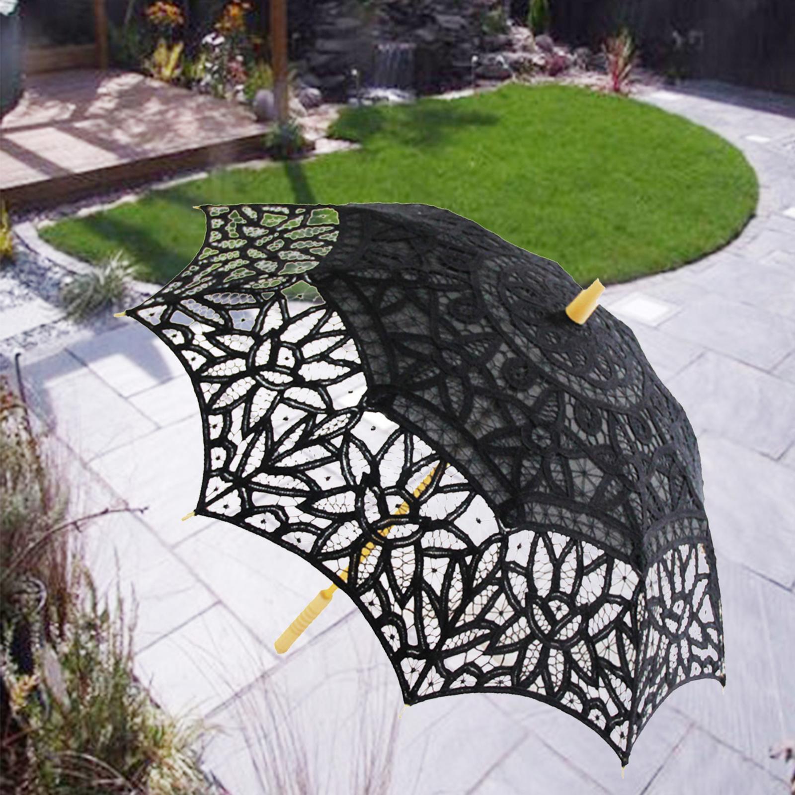 thumbnail 3 - Parapluie de mariage parapluie de mariage vintage en dentelle de coton fait main