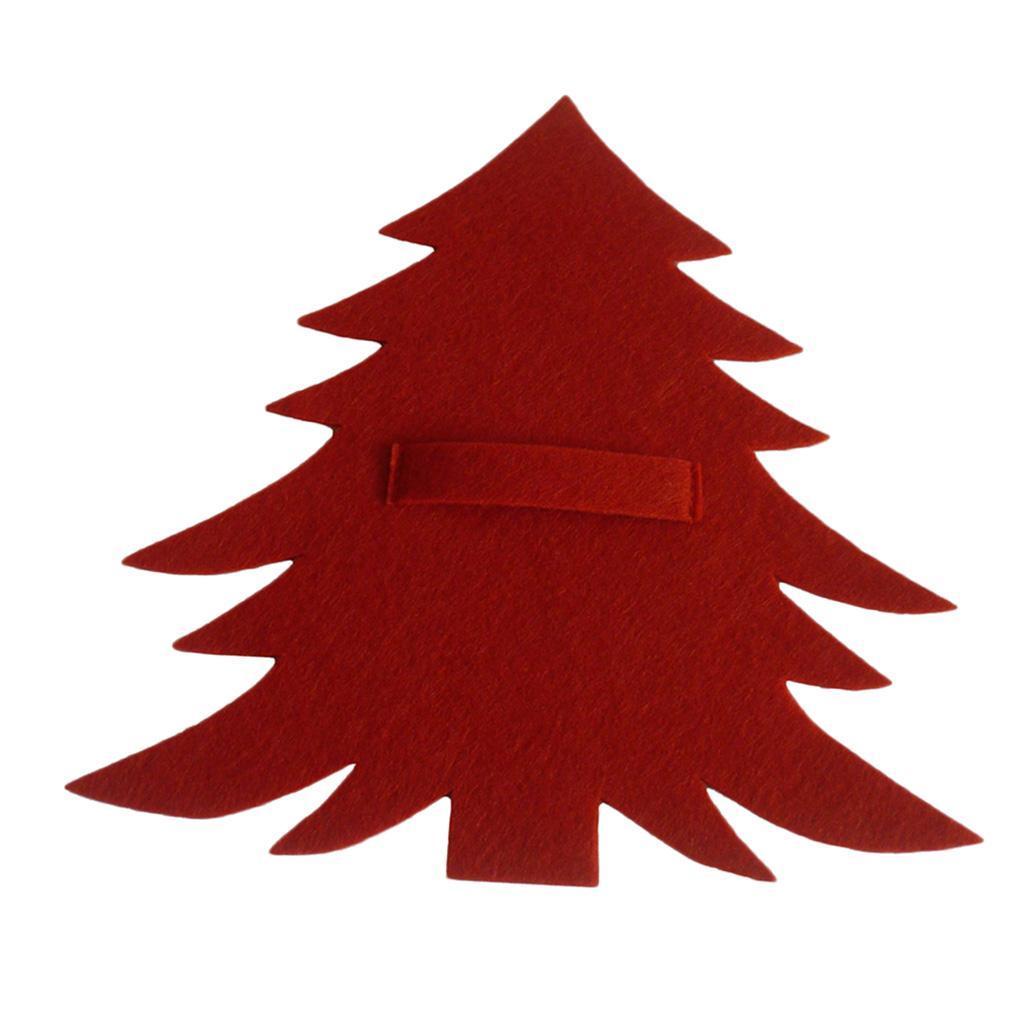 Weihnachtsbaum-Muster-Messer-Gabel-Geschirr-Tasche-Besteckbeutel-fuer Indexbild 4
