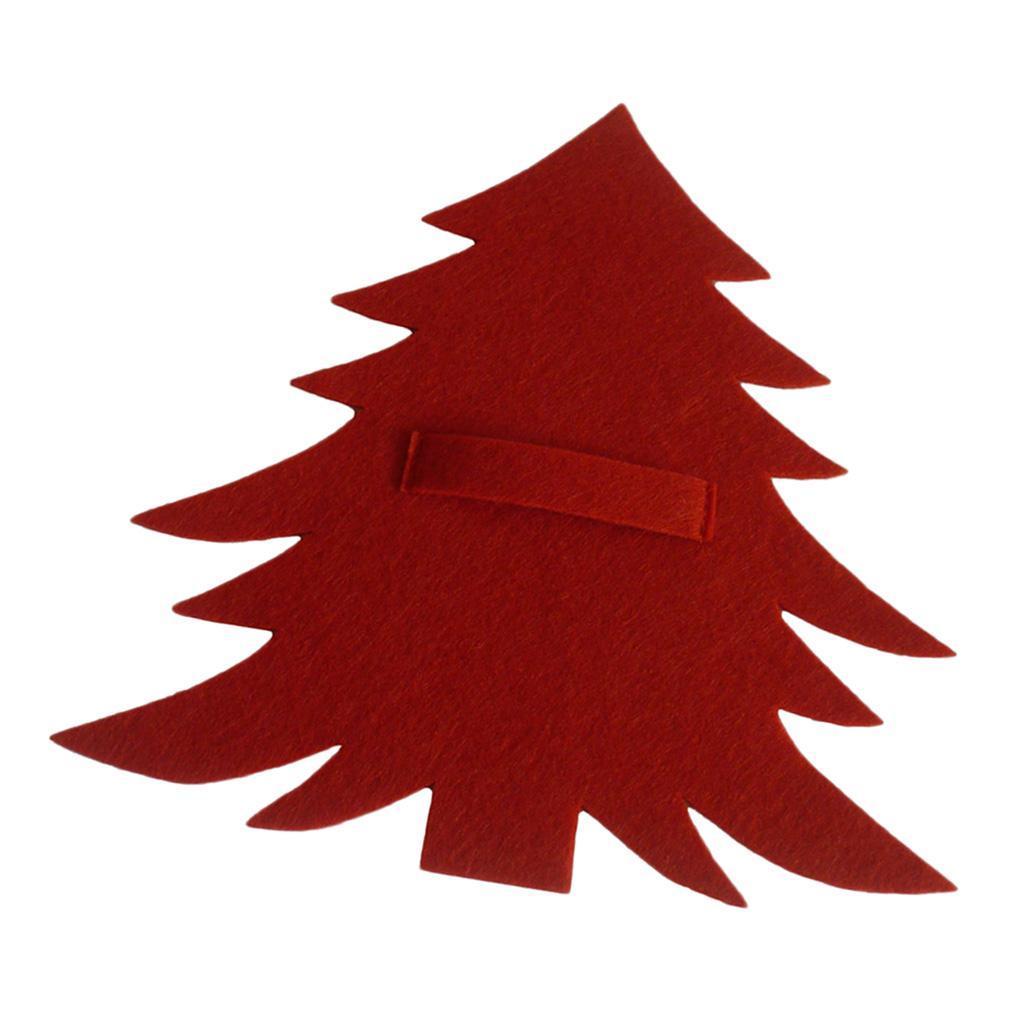 Weihnachtsbaum-Muster-Messer-Gabel-Geschirr-Tasche-Besteckbeutel-fuer Indexbild 3