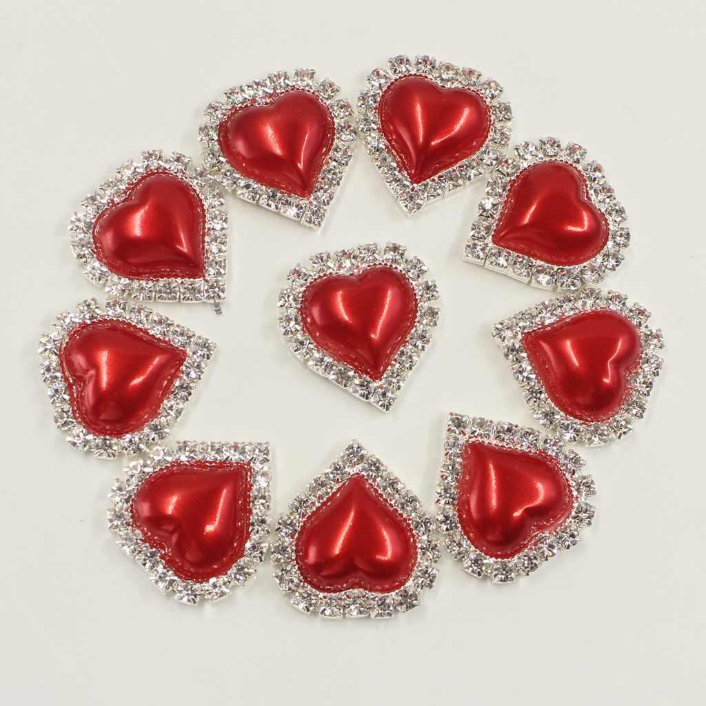 10x DIY Crystal Rhinestone Button Flatback Cabochon Embellishments Black