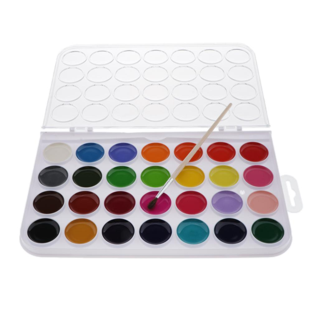 12-16-28-36-Colors-Solid-Watercolor-Paints-With-brush-For-Art-Crafts-Paint thumbnail 10