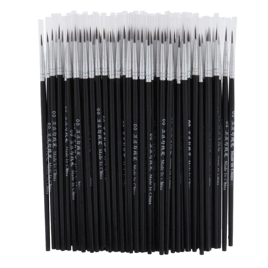 100Pcs Artists Painting Brushes Brush Pen Hook Line Pen Children Painting