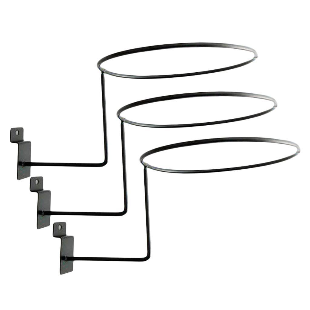 Supporto-per-casco-in-3-pezzi-supporto-per-cappello-supporto-a-muro-supporto miniatura 6