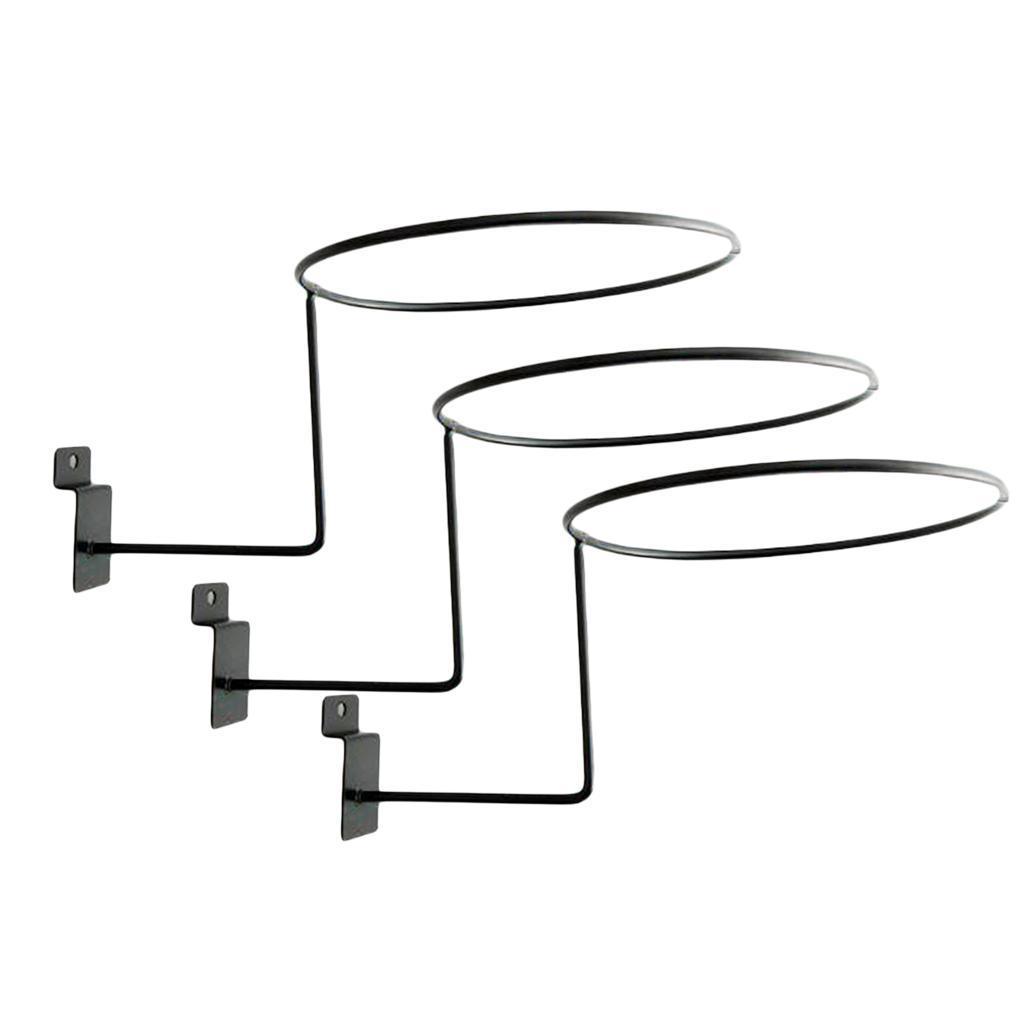 Supporto-per-casco-in-3-pezzi-supporto-per-cappello-supporto-a-muro-supporto miniatura 7