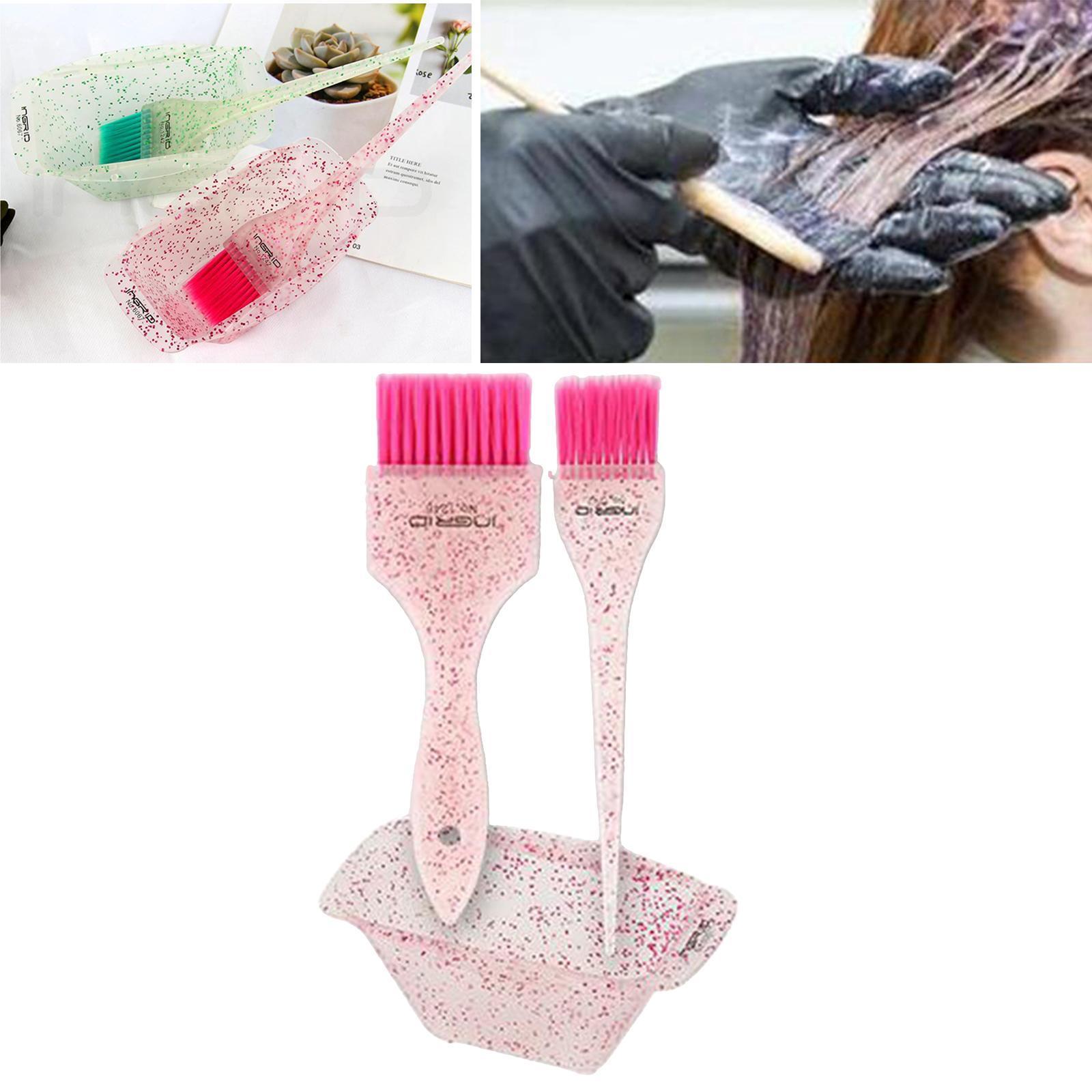 miniature 6 - Kit de teinture pour cheveux 3 pièces en plastique bol de coloration des