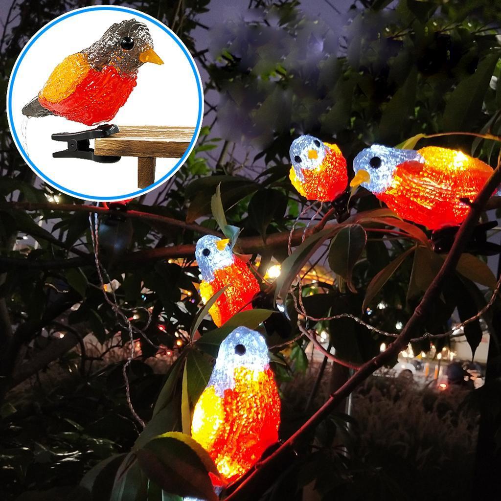 miniature 5 - 5 solaire Oiseaux Jeu de Lumières avec Clip Jardin Paysage De Noël Décor