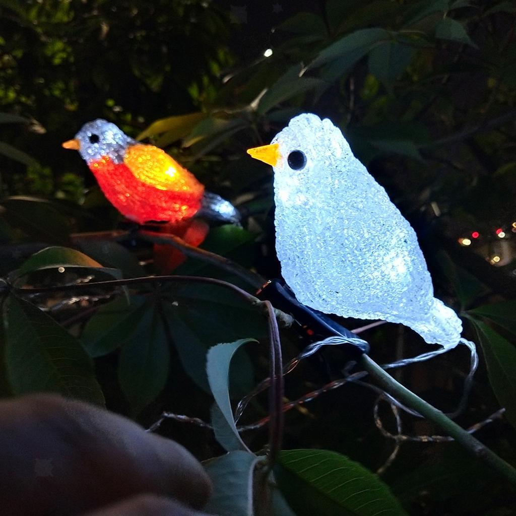 miniature 9 - 5 solaire Oiseaux Jeu de Lumières avec Clip Jardin Paysage De Noël Décor