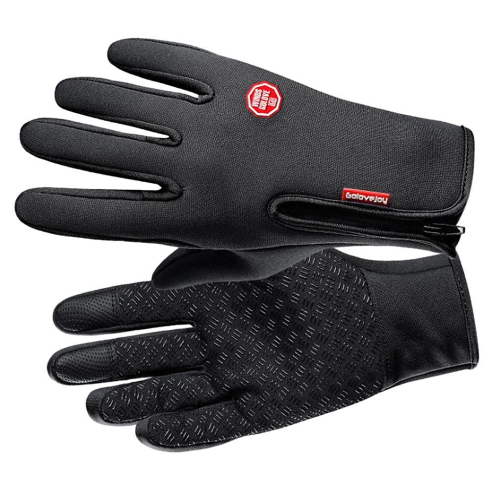 Hiver-chaud-plein-doigts-doigts-ecran-tactile-gants-d-039-entrainement-velo miniature 13