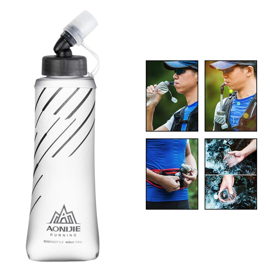 Cyling Water Bottle Sports Bottle Outdoor Sport BPA Free Foldable Soft Water Bag