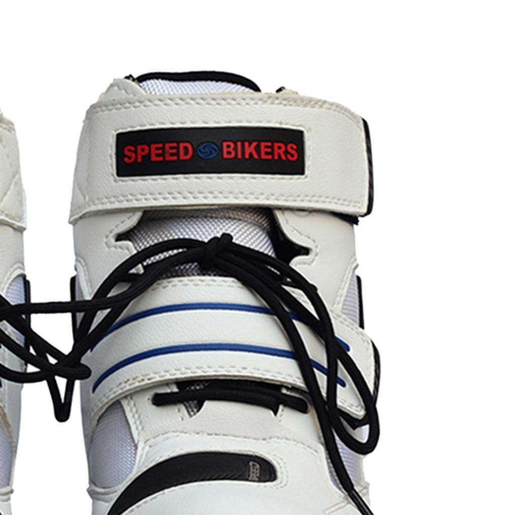 1-PAIA-CORTO-MOTO-Protezione-Caviglia-Stivali-Scarpe-Antiscivolo-Sports miniatura 28