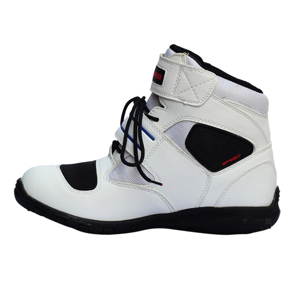 1-PAIA-CORTO-MOTO-Protezione-Caviglia-Stivali-Scarpe-Antiscivolo-Sports miniatura 27