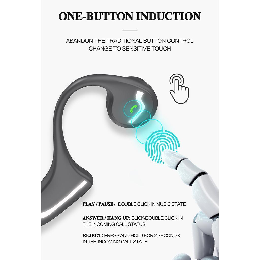 miniature 10 - Bluetooth os Conduction casque étanche musique écouteur oreille crochet