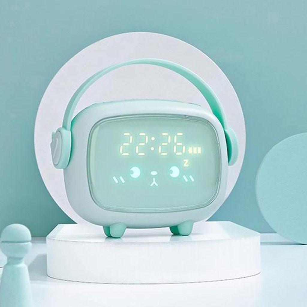 Kids-Night-Light-Sveglia-Camera-da-letto-Night-Sleeping-Lamp-Bambini-Sleep miniatura 5