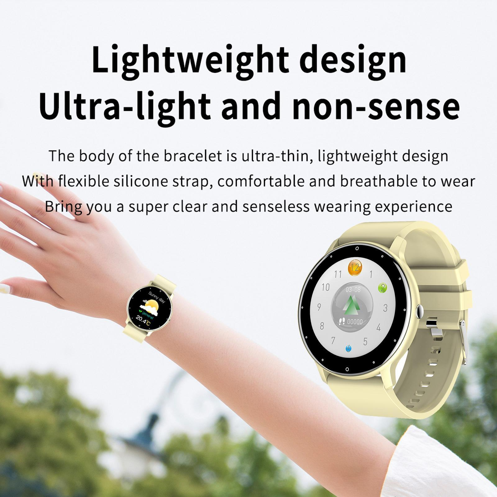 miniature 27 - Étanche Femmes Montre Intelligente Bracelet Sport Fitness Tracker Mode