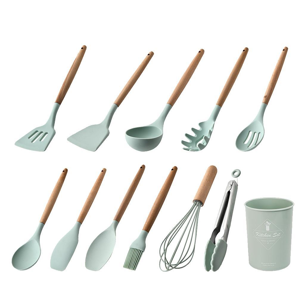 miniatura 3 - Spatola antiaderente Cucchiaio Mestolo da cucina Set di utensili da cucina per