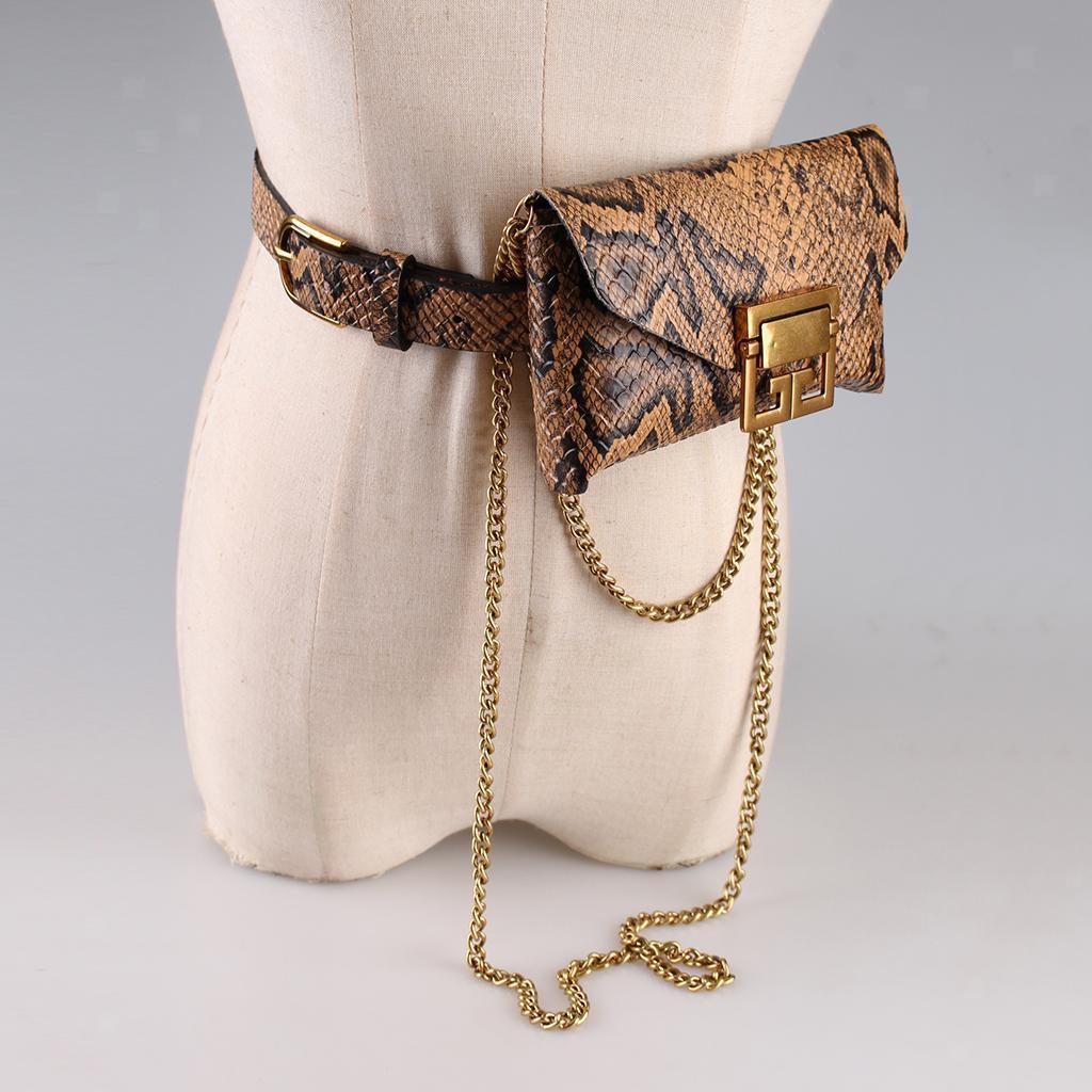 Damen-Lederguertel-Fanny-Pack-Mit-Abnehmbarer-Guerteltasche-Mode-Guerteltaschen Indexbild 12