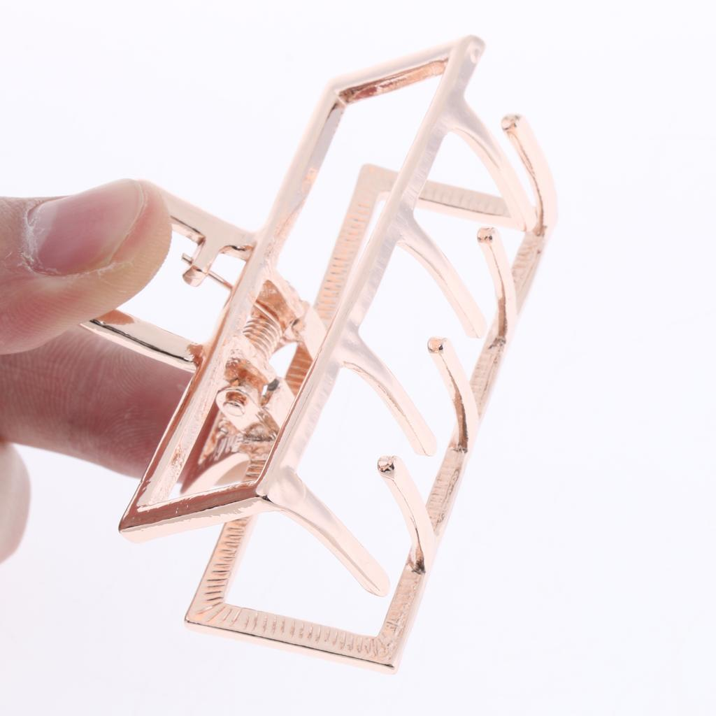 Vintage-Metal-Hair-Jaw-Clips-Rectangle-Arch-Hair-Clamp-Claws-Accessories-Women thumbnail 7