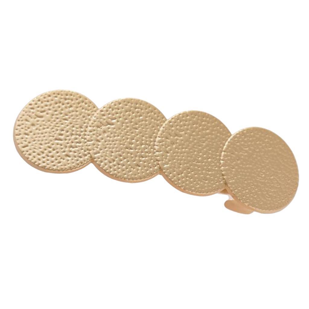 Pince-a-Cheveux-Ronde-Geometrique-Accessoire-de-Cheveux-de-Support-de-Queue miniature 3