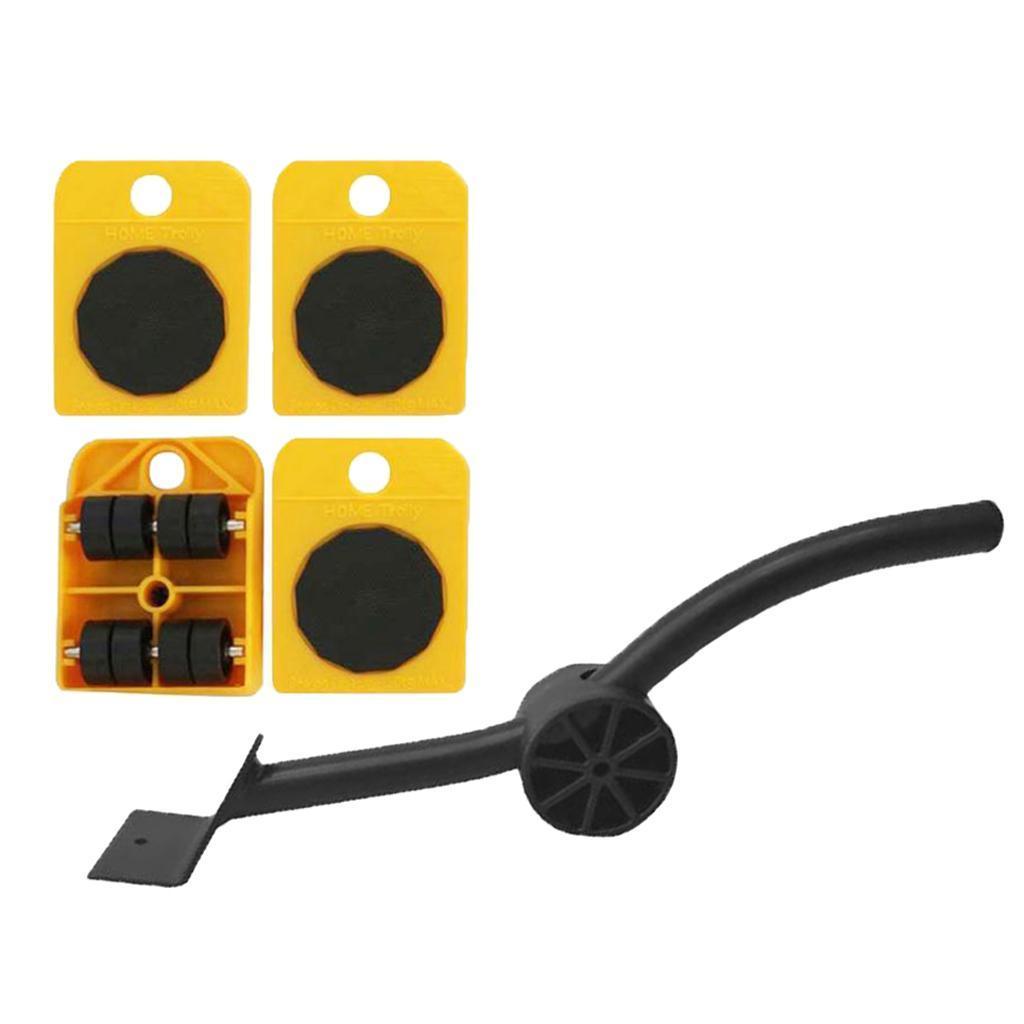Set-Mobile-Di-Sollevamento-Per-Mobili-1-Asta-Di-Sollevamento-E-4-Rulli-Mobili miniatura 6