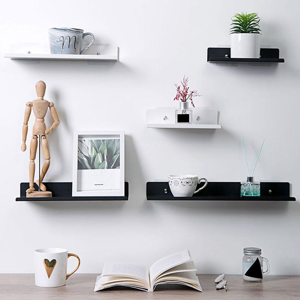 miniatura 40 - Galleggiante Mensola A Muro Cremagliera Cremagliera di Esposizione per la Casa