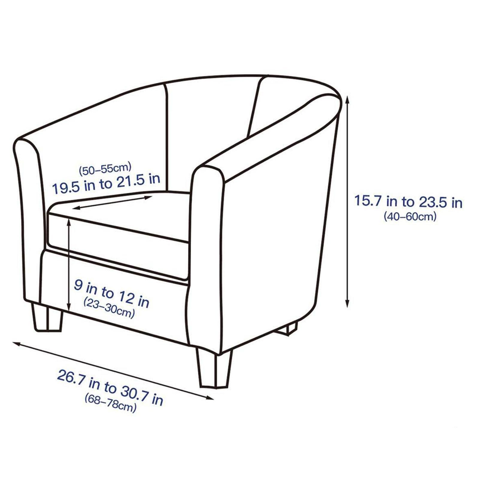 miniatura 7 - Fodera per poltrona singola per poltrona Fodera per sedia in colori assortiti