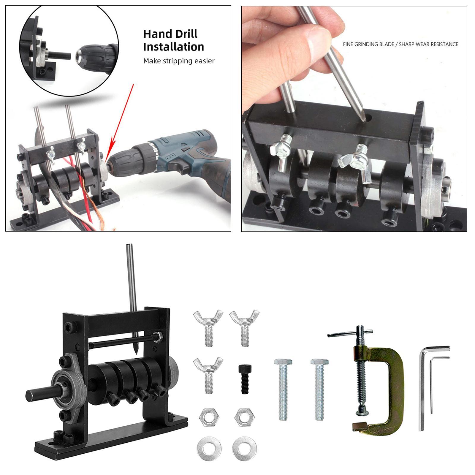 Máquina pelacables Alambre Stripper Herramientas Kit Para 1-30mm puede conectar Taladro de mano