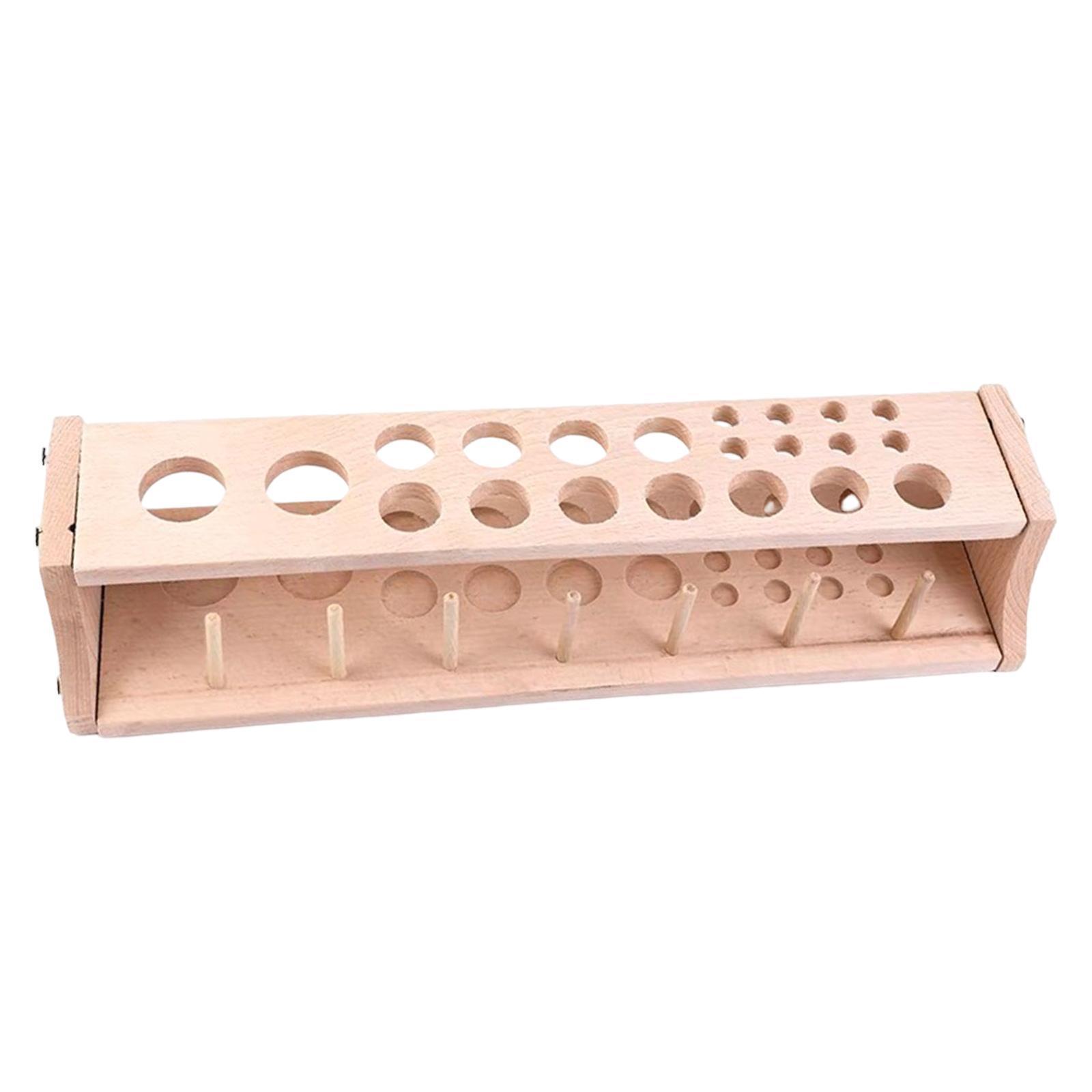 Leder-Halter-Werkzeug-Holz-Punch-Handwerk-Werkzeug-Rack-Leathercraft-Stand Indexbild 7