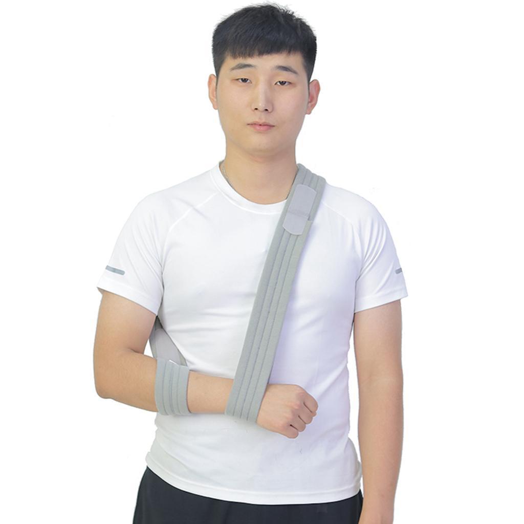 Verstellbare-Armschlinge-Armtragegurt-Armbandage-fuer-Maenner-und-Frauen Indexbild 7