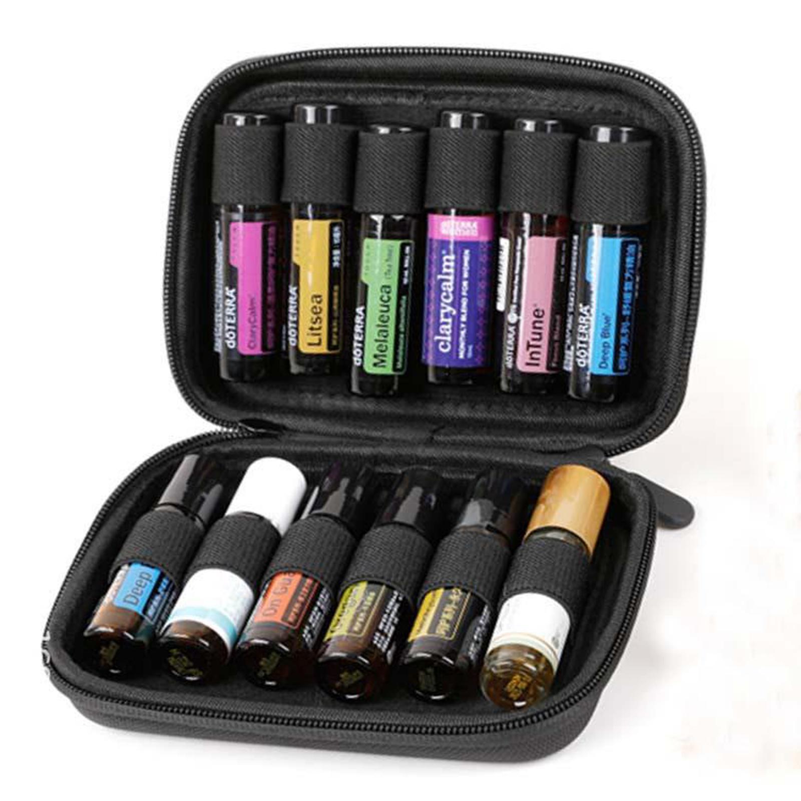 Sacchetto-di-olio-essenziale-custodia-da-viaggio-per-aromaterapia-da-10ml-per-12 miniatura 52