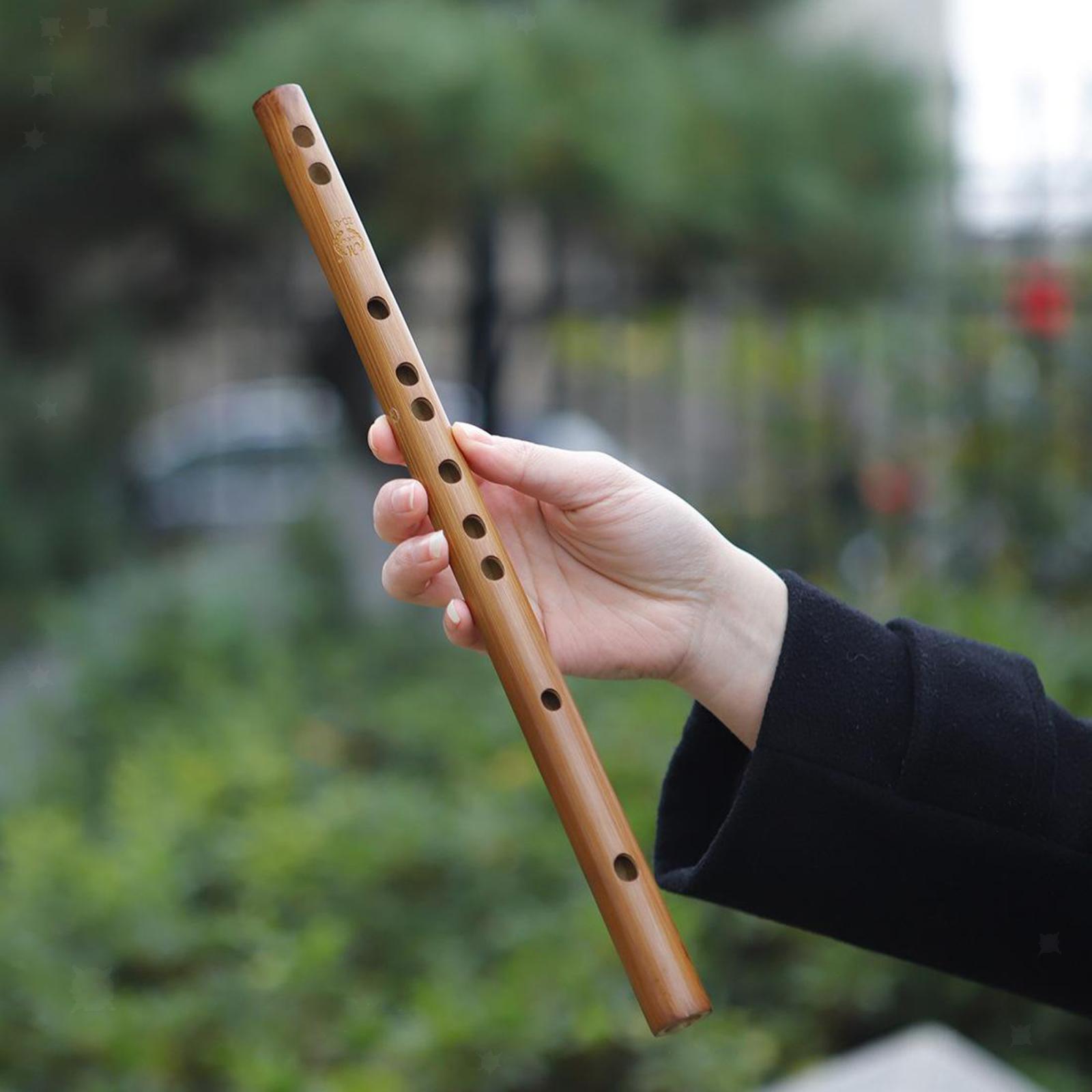 miniatura 40 - Unico-Indiano-di-Legno-Flauto-Strumento-Musicale-Registratore-Bansuri-Regalo
