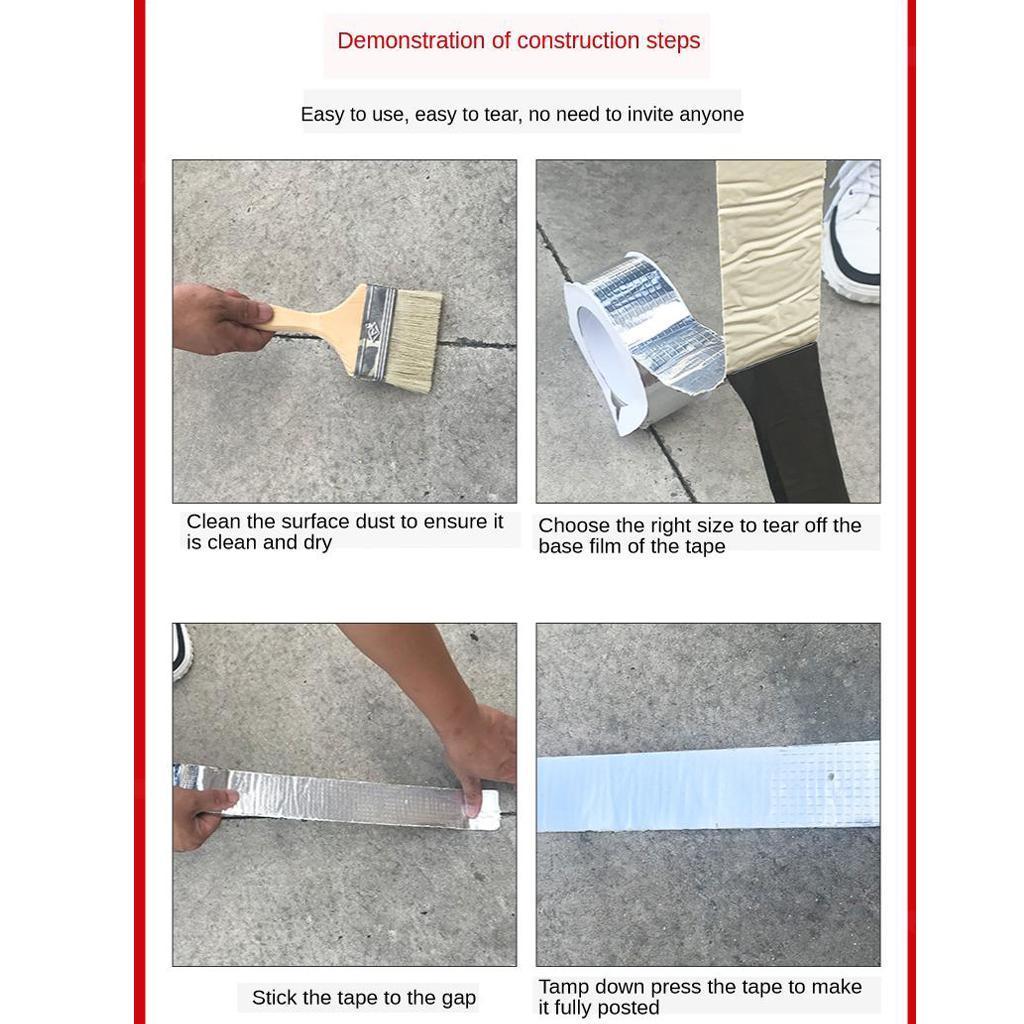 Tenacite-elevee-auto-adhesive-de-bande-de-bande-en-caoutchouc-butyle-de miniature 3