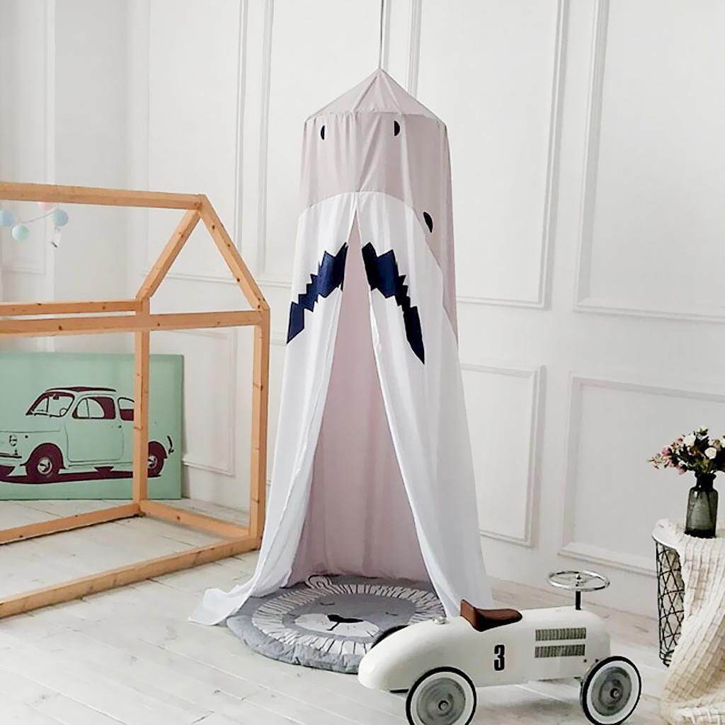 94,5 × 23,6 Zoll Cartoon Shark Dome Betthimmel Baumwolle Moskitonetz Für