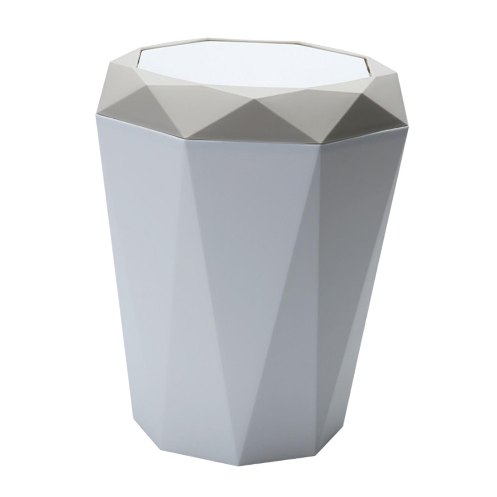 Plastic Trash Can Ash Bin Waste Paper Container Lid