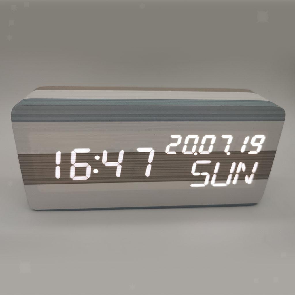 Sveglia-digitale-a-LED-sveglia-USB-batteria-luminosita-regolabile-a-tre miniatura 5