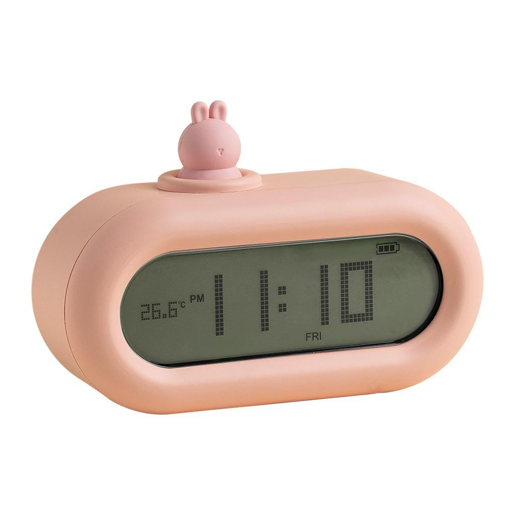 Cute-Cartoon-Bella-Animali-Nightlight-Alarm-Orologi-per-la-Camera-Da-Letto miniatura 8