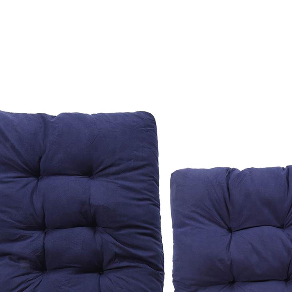 miniature 19 - Ensemble de coussins de chaise berçante inclinable avec attaches Jardin