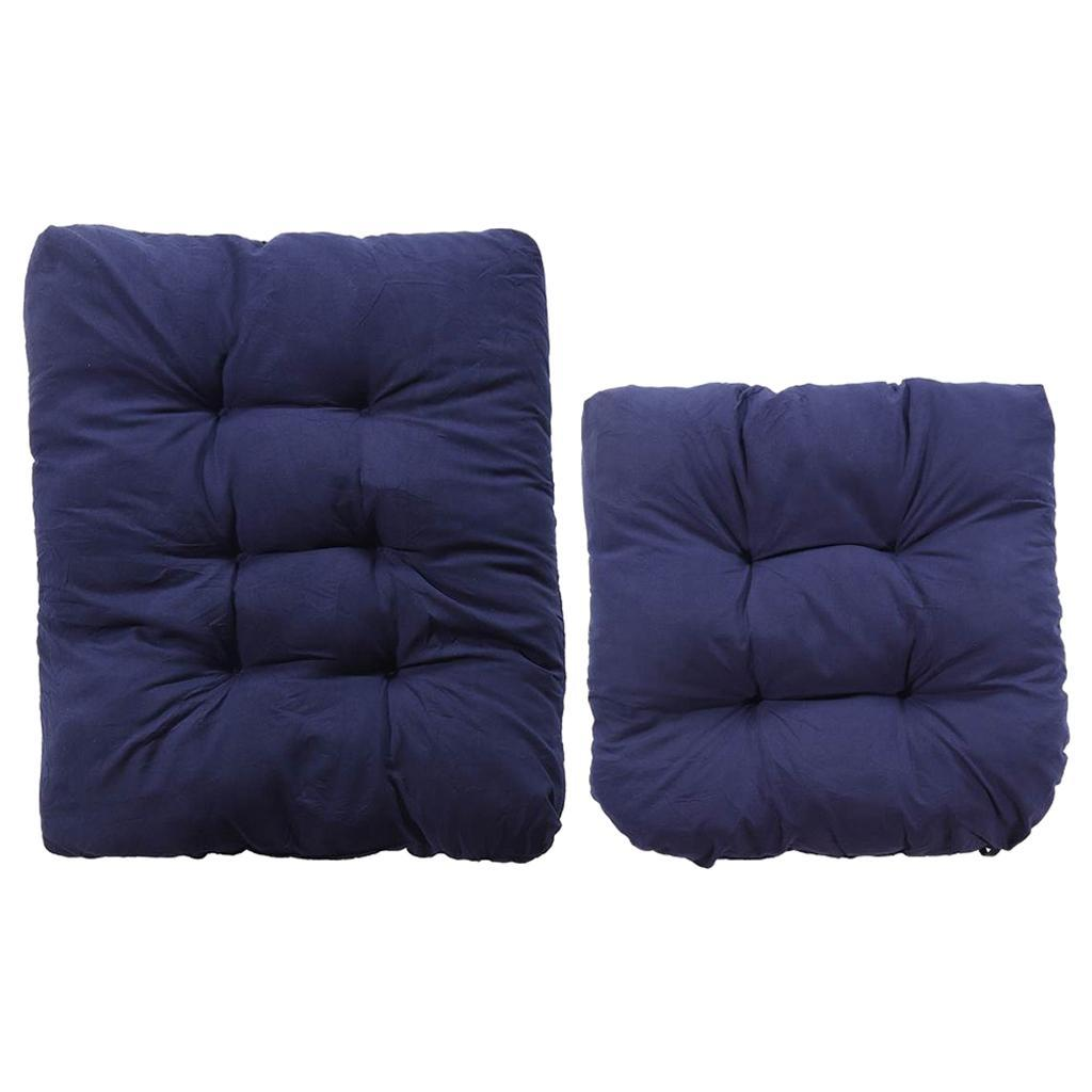 miniature 16 - Ensemble de coussins de chaise berçante inclinable avec attaches Jardin