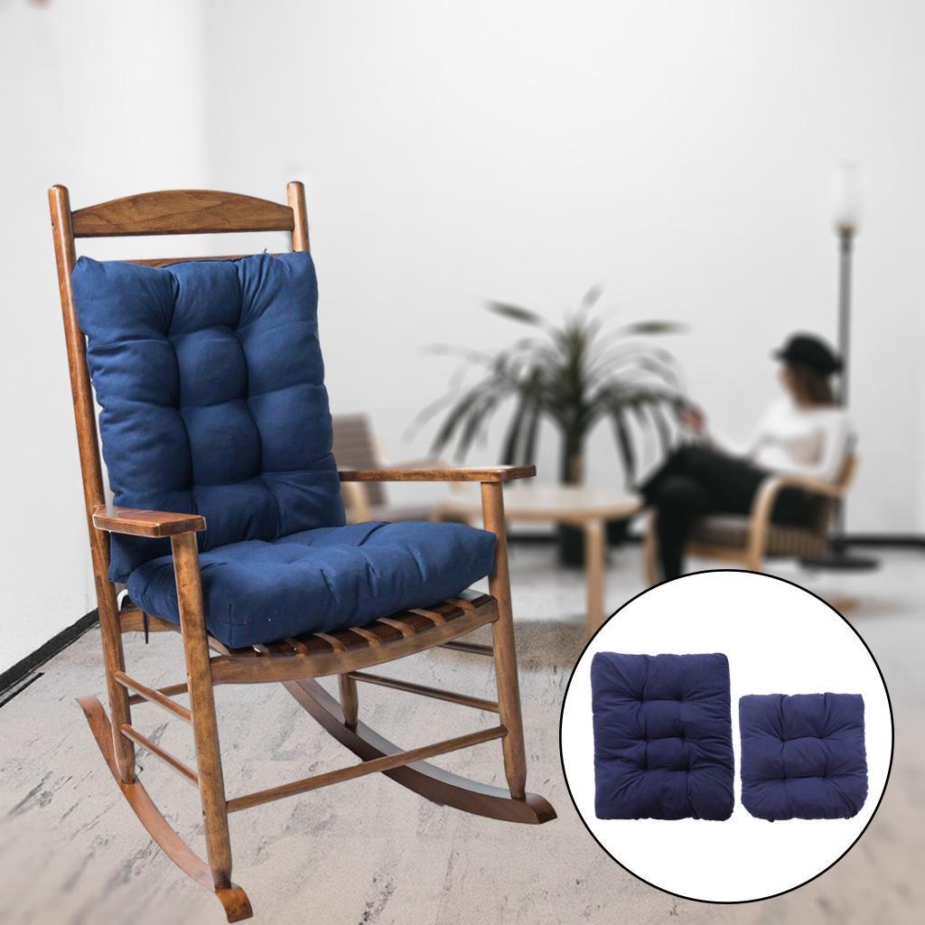 miniature 13 - Ensemble de coussins de chaise berçante inclinable avec attaches Jardin