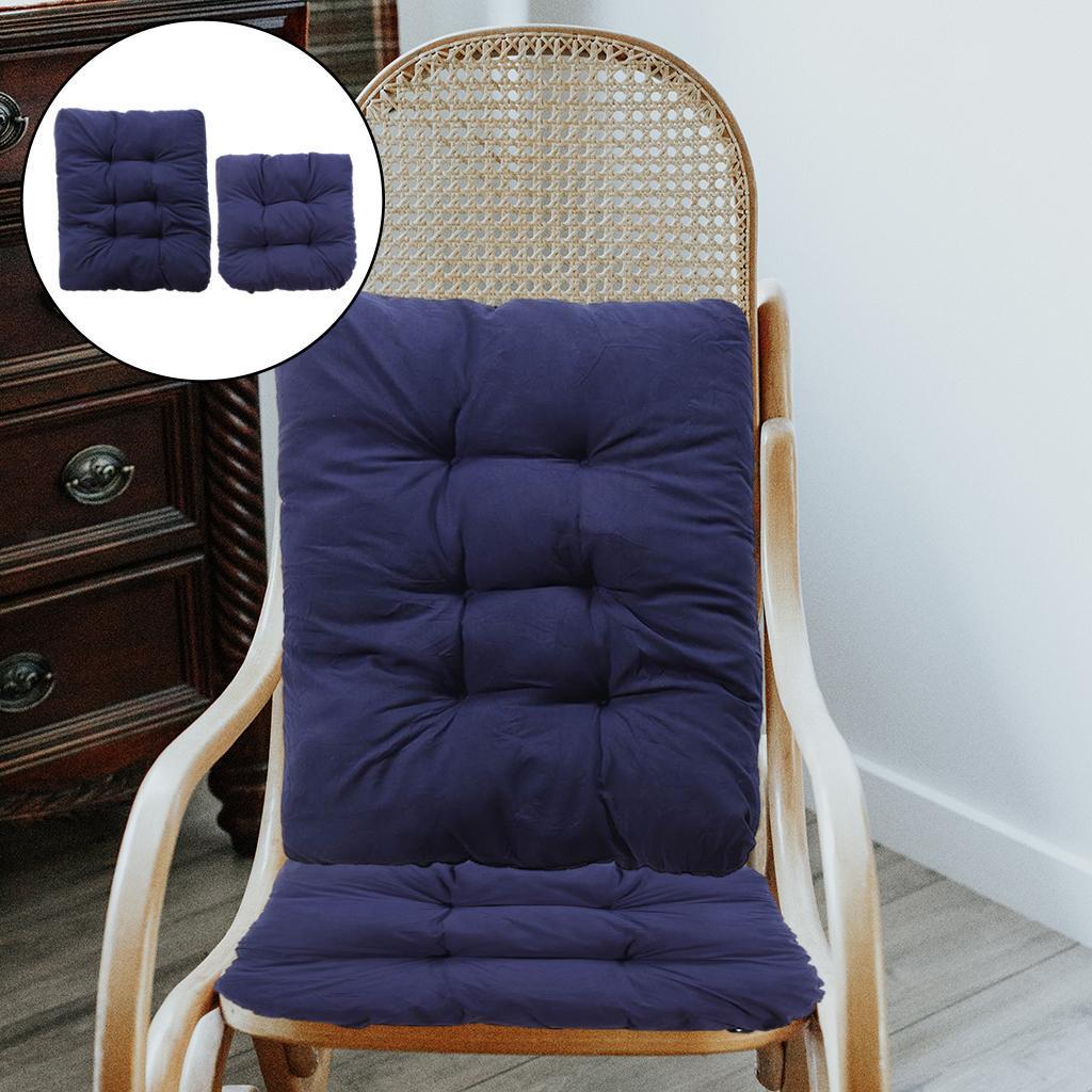 miniature 15 - Ensemble de coussins de chaise berçante inclinable avec attaches Jardin
